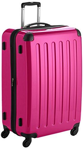 HAUPTSTADTKOFFER - Alex - Hartschalen-Koffer Koffer Trolley Rollkoffer Reisekoffer Erweiterbar, 4 Rollen,  75 cm, 119 Liter, Magenta