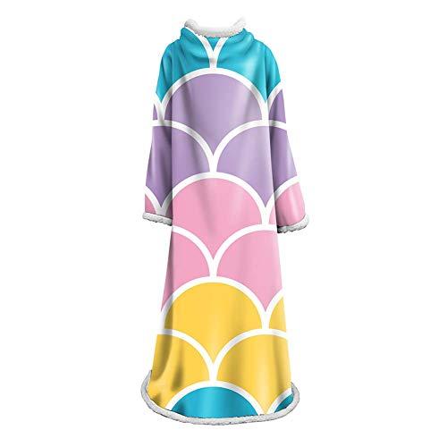 Kostüm Frauen Faul - NICEWL Ärmel Decke-Wearable Bademantel Robe Plüschdecke, Handgemachte Erwachsene Faul Haushalt Mantel Kostüm Decke, Winter Super Warmhalten, A