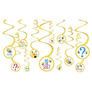 Amscan International-Adornos, color decorations spiral wheat will it bee (672166)