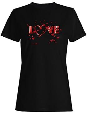 Novia, corazón, novedad, divertido, vintage, arte camiseta de las mujeres a168f