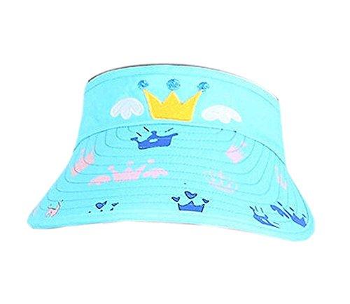Preisvergleich Produktbild Kinder Sonnenschutz Hut Mini Crown Helle Kappe ohne Top 2-4 Jahre (blau)