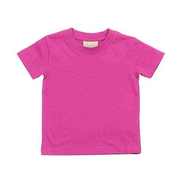 Larkwood- Camiseta de manga corta de cuello redondo para bebé (0-6 Meses, Jade) 3