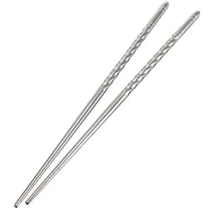 5 Pairs of Stainless Steel Chopsticks