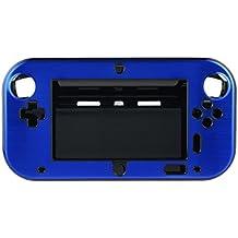 OSTENT Funda de caja de metal dura de aluminio antichoque carcasa Compatible para Nintendo Wii U Gamepad de color azul
