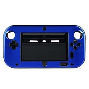 OSTENT Anti-Schock Hard Aluminium Metall Box Cover Case Shell kompatibel für Nintendo Wii U Gamepad Farbe Blau
