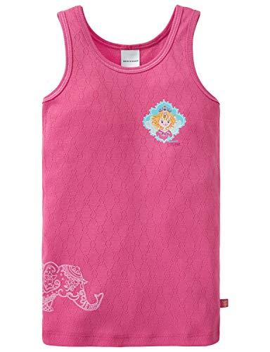 Schiesser Mädchen Prinzessin Lillifee Unterhemd, Rot (Pink 504), Herstellergröße: 104 (Prinzessin Für Unterwäsche Mädchen)