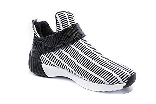 Onemix Unisex Air Scarpe da Ginnastica Corsa Uomo Sportive Running Donna Sneakers Fitness Interior Casual all'Aperto Nero bianco
