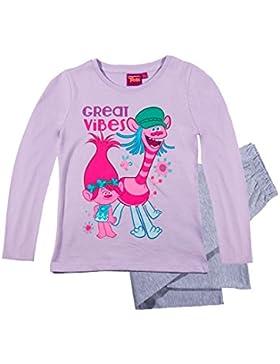 Trolls Mädchen Pyjama Schlafanzug 2016 Kollektion - lila
