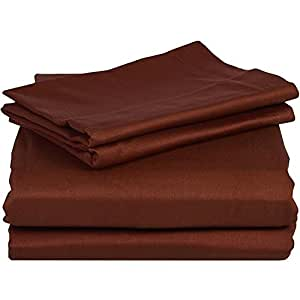 500TC 100% Egyptian Cotton Brick Red Solid Brand New 1 PC Bed Sheet, King