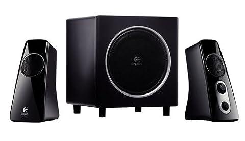 Logitech Speaker System Z523 Haut-parleurs 2.1 Subwoofer Deux entrées auxiliaires 40 watts Noir