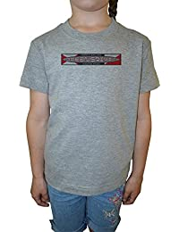 Ocean Spirit Niña Niños Camiseta Cuello Redondo Gris Algodón Manga Corta Girls Kids T-shirt Grey