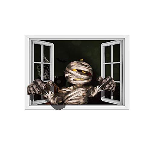 Fangfeen DIY Mama Wandtattoo Dekor Scary Ghost-Plakat Halloween 3D-Wand-Aufkleber-Fenster-Kunst-Wanddekor-
