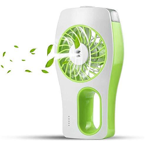 Dewanxin Mini Standventilator mit Kühlung, USB Hand- Wiederaufladbare Ventilator mit 3 Verschiedene Zirkulationsmodus (Grün)