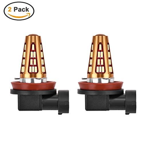 Preisvergleich Produktbild MHtech 2 x H11/H8 LED Nebelscheinwerder Birnen Tagfahrlicht 1600 Lumen Extrem Helle 1 Cree LED und 40-SMD 4014 Auto KFZ Leuchte Birne H8 H11 Lampe Leuchtmittel Mit Linse Xenon Weiß 6000K DC12V