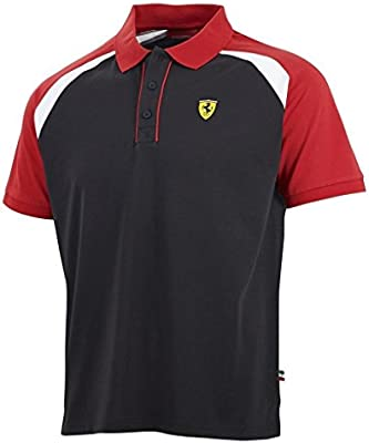 Scuderia Ferrari F1para hombre Race polo negro