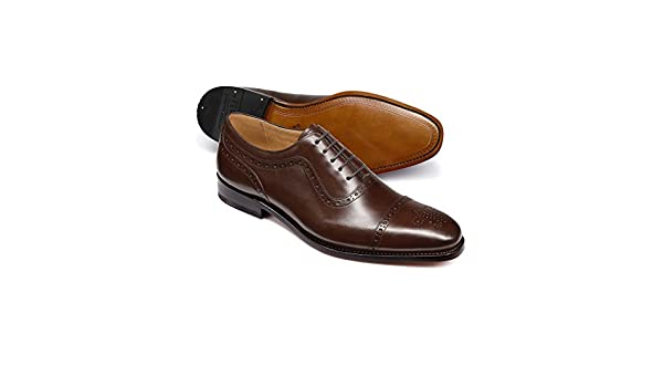 cbea09737909db Chocolate Goodyear Welted Oxford Brogue Leather Sole Shoe Size 7 R by  Charles Tyrwhitt  Amazon.co.uk  Clothing