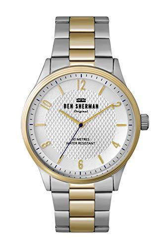 Ben Sherman Reloj Analógico para Hombre de Cuarzo con Correa en Aluminio WB025SGM