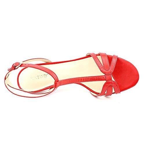 Nine West Odarlin Cuir Sandales Rouge - rouge