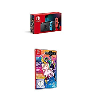 Nintendo Switch Konsole – Neon-Rot/Neon-Blau (2019 Edition) + Just Dance 2020 (Switch)