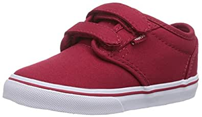 Vans Atwood V, Unisex Babies' Crawling Baby Sneakers, Red ((Canvas) Red/White), 4 Child UK (20 EU)