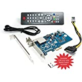 DVBSky S950 PCIe Karte (Low Profile) mit 1x DVB-S2 Tuner, keine CD stattdessen partitionierter USB Stick mit Windows Software inklusive bootfähigem Linux Media Center