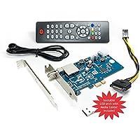 DVBSky S950 PCIe Karte (Low Profile) mit 1x DVB-S2 Tuner, keine CD stattdessen partitionierter USB Stick mit Windows Software inklusive bootfähigem Linux Media Center