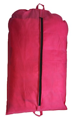Price comparison product image Pink Suit Cover Garment Bag Clothes Cover Bag