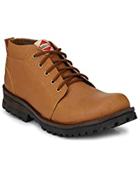 Men's Synthetic Leather Ankle Length Boots