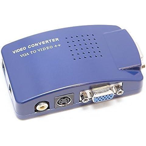 enjoygadgets Generic PC/TV/VGA a RCA convertitore, colore: blu