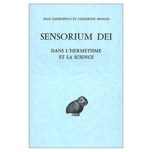 Sensorium dei, dans l'hermétisme et la science