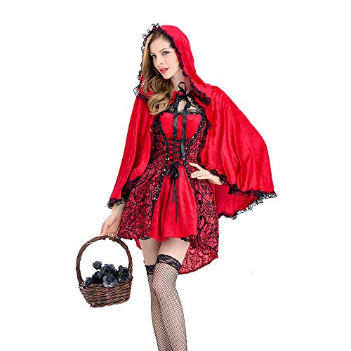LVLUOYE Kostüm, Halloween Castle Queen, Gothic Little Red Riding Hood Party Performance ()