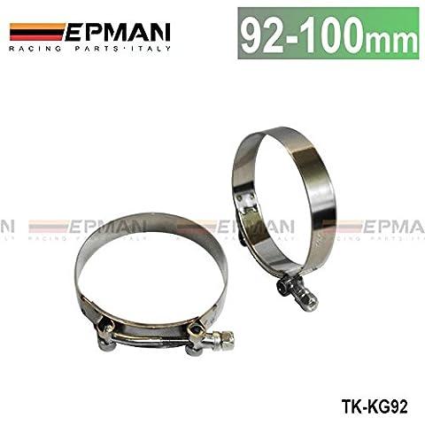 8,9cm pouce (92mm-100mm) en silicone Turbo Tuyau Coupleur T Pièces Super Kit de serrage tk-kg92