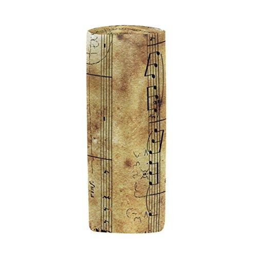 Bleistift Fall Zylinder Form Halter Tabelle Retro Musik Note Stift Stationery Tasche Tasche mit Reißverschluss Make-up
