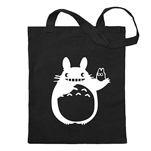 Kiwistar - My Neighbor Totoro - Mein Nachbar Totoro Jutebeutel in 12 Tragetasche Bedruckt Sprüche Spruch Motive Baumwolltasche Print Stoffbeutel Umhängetasche Langer Henkel