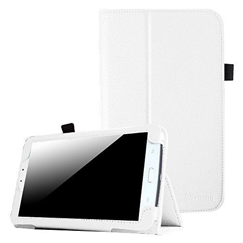 Fintie Samsung Galaxy Tab 3 7.0 (7 Zoll) SM-T210 SM-T211 Hülle Case - Slim Fit Folio Bookstyle Kunstleder Schutzhülle Cover Tasche mit Ständerfunktion und Stylus-Halterung, Weiß