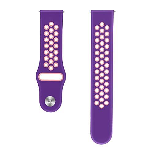 lität Große Silikon Ersatz Band Wrist Strap Braclet Für Samsung Galaxy Watch Active (Lila) ()