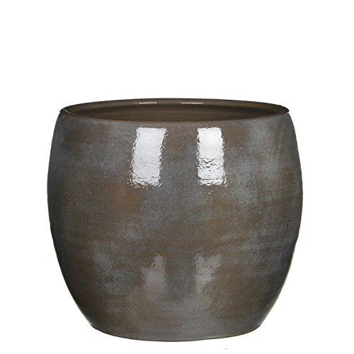 Mica Decorations 1002879 Lester Pot Ronde Gris F - H26xd28cm