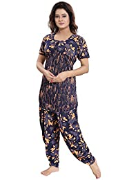2acac00e51 TUCUTE Top and Dhoti Style Bottom Night Suit Nighty Nightdress Night Gown  for