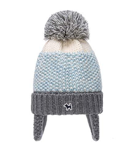 Gifts Treat Bambini Cappello Beanie Lavorato a Maglia Ragazze e Ragazzi Inverno Cappello Caldo con Paraorecchie