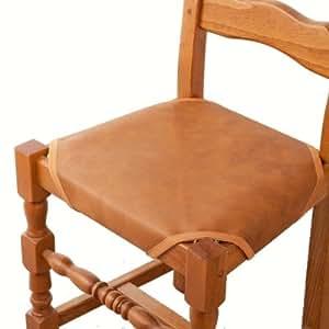 Vitrine Magique - Les 2 couvre-chaises en simili cuir