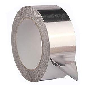 WERTAZ Cinta Adhesiva Papel de Aluminio Útil a Prueba de Calor Reparaciones de conductos de Rollo Resistencia térmica Resistente a Altas temperaturas Anillo de Sellado