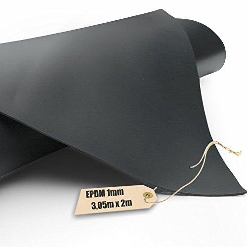 Firestone EPDM Kautschuk-Teichfolie Pondgard 1mm in 3,05m x 2m