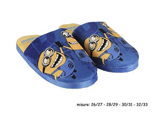 Minions – Zapatillas de estar por casa de Material Sintético para niño azul turquesa