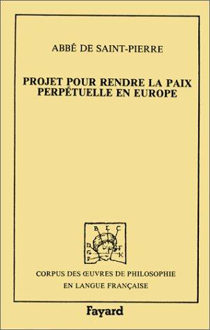 Projet pour rendre la paix perpétuelle en Europe