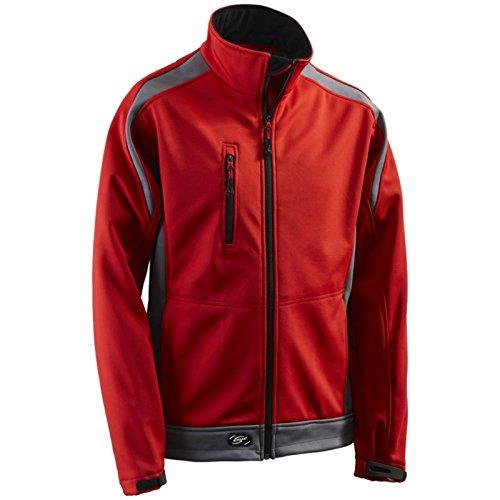 Preisvergleich Produktbild Funktionsjacke Softshelljacke Softshell-Jacke Athletic - Größe 3XL - rot/grau