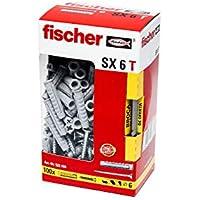 FISCHER 522199 Taco SX 6x30 T + Broca Gratis (Caja Tacos + 100 Tornillos)
