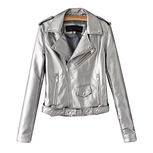 Zhhlinyuan Autumn Winter PU Leather Jacke Damen Elegant Special Color Motorcycle Lab Coat Fashion Designer for Ladies