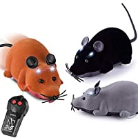 ALIKEEY Educational Toys for Kids, Pet Cat Dog Funny Electric RC Rat Mouse Wireless Remote Control Interactive Toy
