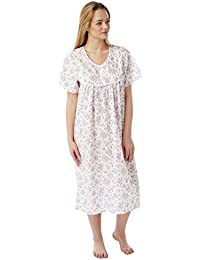 8e4ebce75e Undercover Ladies Marlon Poly Cotton Short Sleeve Nightdress Nightie MN11  Size 10-30