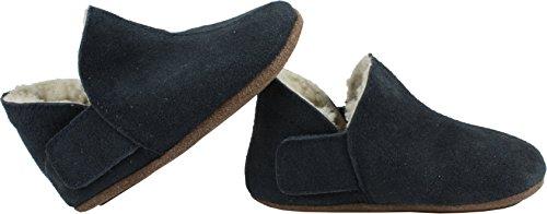 EN FANT Adventure Slipper Wool, Chaussons à doublure chaude garçon Bleu - Blau (Navy 04)